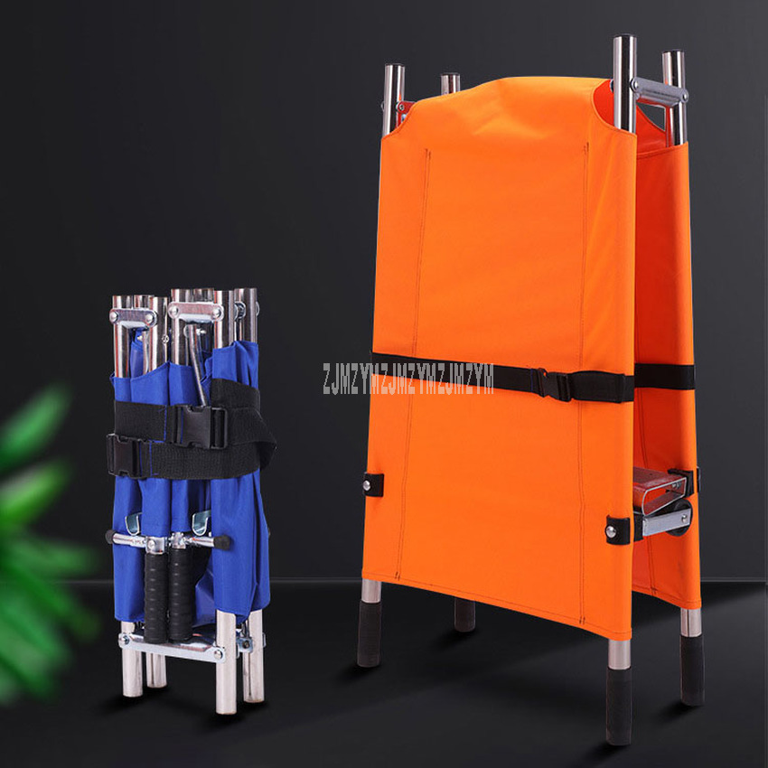 Two/Four-fold Portable Foldable Stretcher Outdoor Household Emergency Treatments Stretcher Bed Aluminum alloy/Stainless Steel