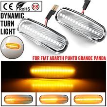 2x LED dynamiczne światło obrysowe boczne lampy sygnalizacyjne skrętu dla Fiat Stilo Multi 192 Qubo 225 Multipla 186 Idea 350 Panda Punto Evo Linea