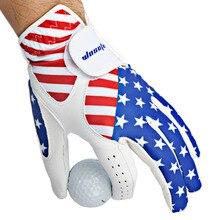 Golf-Gloves Ventilation Left Handed Men American-Flag Antiskid Men's