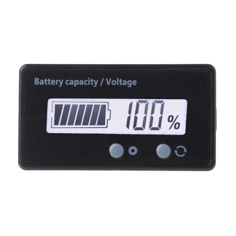 12V/24V/36V/48V LCD Acid Lead Lithium Battery Capacity Indicator Voltmeter Voltage Electric Motorcycle Scooter Battery Testers T Volt Meters     - title=