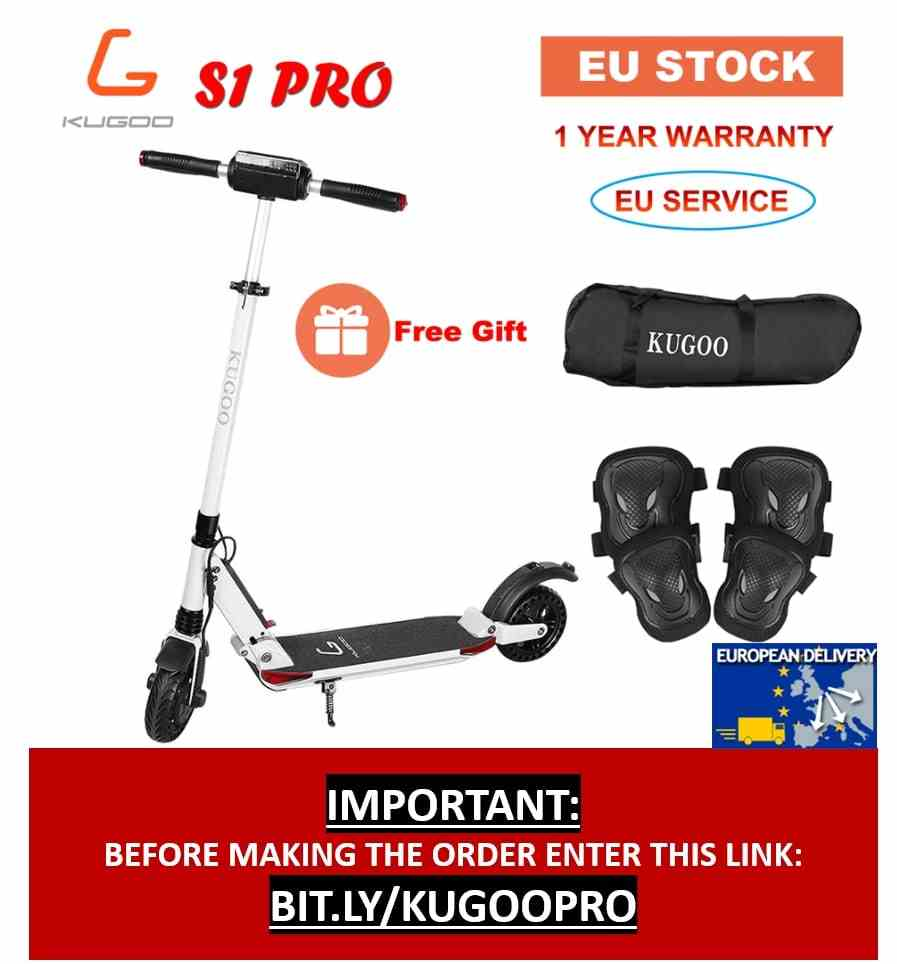 Originele Kugoo S1 Pro Opvouwbare Elektrische Scooter 7.5AH 350W Lcd Display 3 Speed Modi 8 Inch Solid Honingraat Explosie-Proof Band