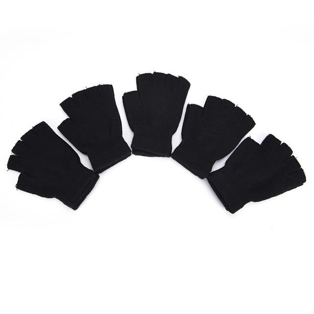 Перчатки без пальцев вязанные осенние 1 пара 6