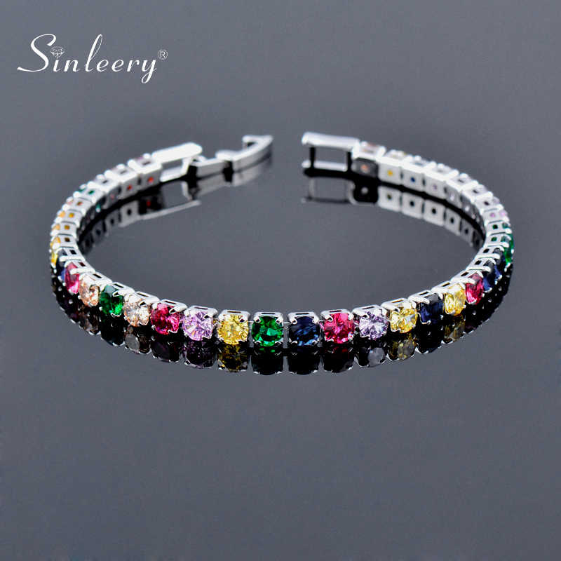 Ice Green Cubic Zircon Crystal Womens Bracelet Rose Gold Plated
