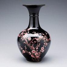 Chinese Ceramics Vase Ornaments Decoration Home Living room Table Furnishing Crafts Hotel Office Desktop Figurines Art