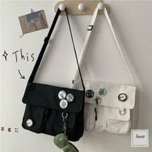Сумка-мессенджер Женская однотонная, модная холщовая Повседневная вместительная сумочка через плечо