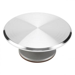 Image 2 - Aluminum + Silicone 12inch Cake Turntable Rotating Revolving Decorating Stand Pastry Baking Decor Tool