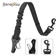 Benepaw Bungee Dog Car Seat Belt 2 In 1 Latch Bar Attachment Elastic Reflective Pet Safety Belt Universal Vehicle Traveling