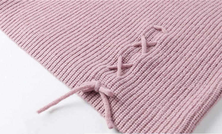 CHRLEISURE Women's Sweaters Winter V-neck Sexy Women's Knitted Jacket Trend Bandage Winter Clothes Women 11