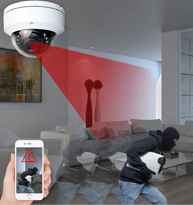 5MP POE IP Camera H.265 Microphone Audio Security Camera Indoor POE IP Camera IP66 ONVIF 30M IR Night Vision XMEye