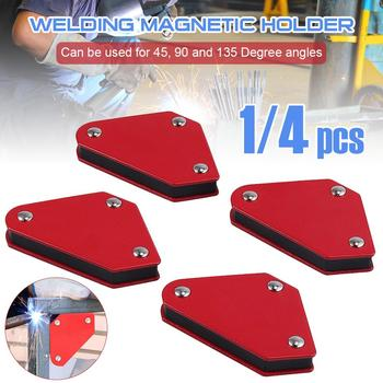 4PCS/Set 9LB Angle Soldering Locator Welder Welding Holder Tool Magnetic Magnet Corner Arrows