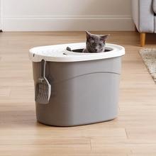 Полузамкнутых Кот Песочник в холодильной камеры кошачьего туалета с шпатель для кошек