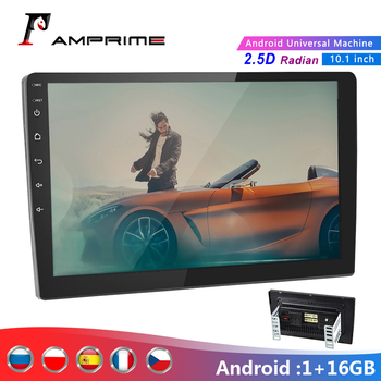 AMPrime 10.1 Android Car Multimedia Player 2 din Car Stereo Radio Bluetooth WIFI Audio Mirrorlink MP5 Player With Rear Camera image