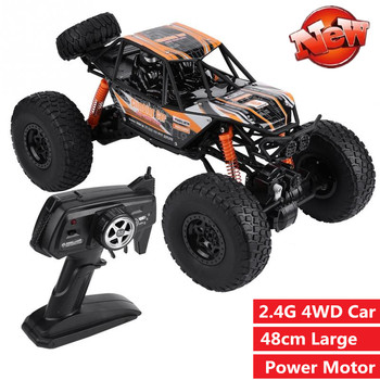Coche de carreras RC grande de 48CM escala 110 todo terreno 4WD Pie Grande RC coche Buggy para Rocas escalada coche de juguete modelo con chico ligero mejores regalos