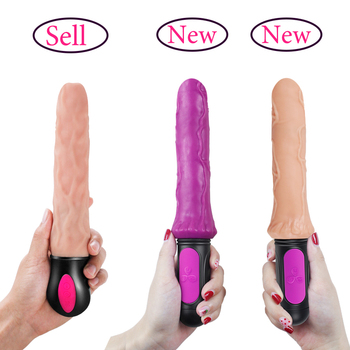 FLXUR 12 Mode Heating Realistic Dildo Vibrator Flexible Soft Silicone Penis G Spot Vagina Vibrator Masturbator Sex Toy For Women 5