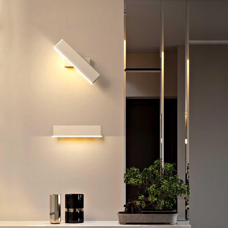 6 واط السرير ليلة الجدار ضوء القهوة/أبيض اللون الحديثة الممر الجدار ضوء 360 للتدوير لغرفة النوم مرآة الجبهة التلفزيون خلفية
