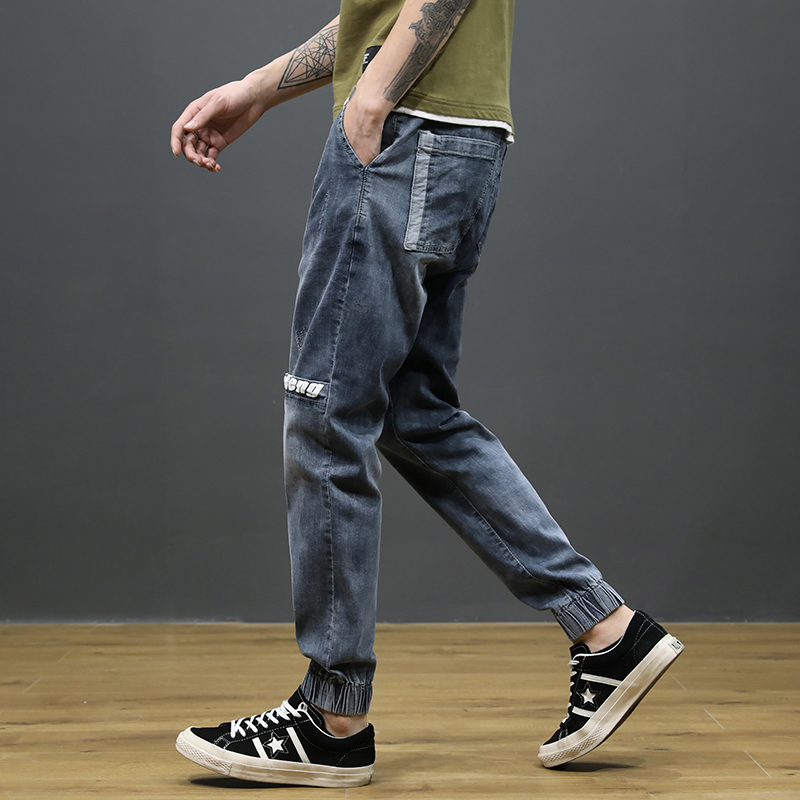 KSTUN Japanese Style Fashion Men Jeans Loose Fit Ankle Banded Jogger Pants Men Cargo Pants Patchwork High Street Jeans homme 12