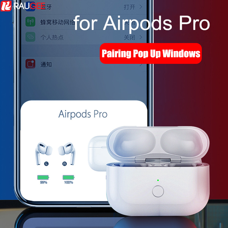 Qi Wireless Charging Case for Airpods Pro Replacement 660mAH Charger Bluetooch Pairing Pop up Windows for AirPods Air Pods Pro