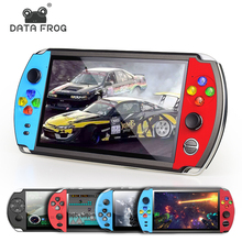 DATA FROG 5.0 Inch Video Game Console 8GB Memory Handheld Retro Game Player Support TV Out Put With MP3 Camera for NES/GBAGame
