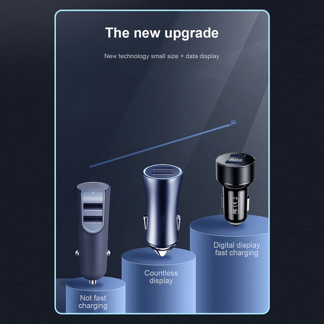 GTWIN 4.8A Dual USB Caricabatteria Da Auto Adattatore Per il Telefono Mobile Con Display A LED di Ricarica Rapida Per iPhone Xiaomi Samsung Huawei LG universale 5