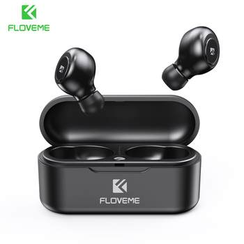 FLOVEME Earphones TWS 5.0 Wireless Headphones Bluetooth Earphone Single/Double Ear Headset Sports Stereo Sound Earbuds Auto Pair