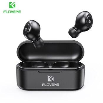 FLOVEME Earphones TWS 5.0 Wireless Bluetooth Earphone Single/Double Ear Headset Sports Stereo Sound Earbuds Auto Pair