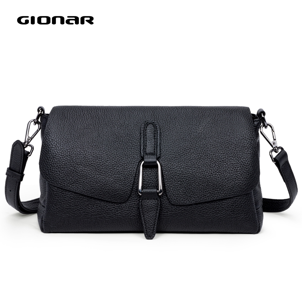 GIONAR RFID Genuine Leather Luxury Handbags Designer Bags For Women 2019 Crossbody Purse Bag Over The Shoulder