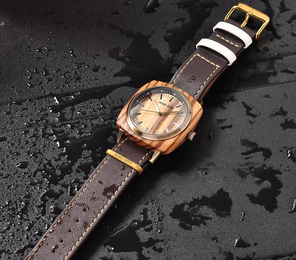 Image 4 - relogio masculino BOBO BIRD Watch Men Top Luxury Brand Wood Wrist Watches in Wooden Box erkek kol saati Christmas Gift for HimQuartz Watches   -