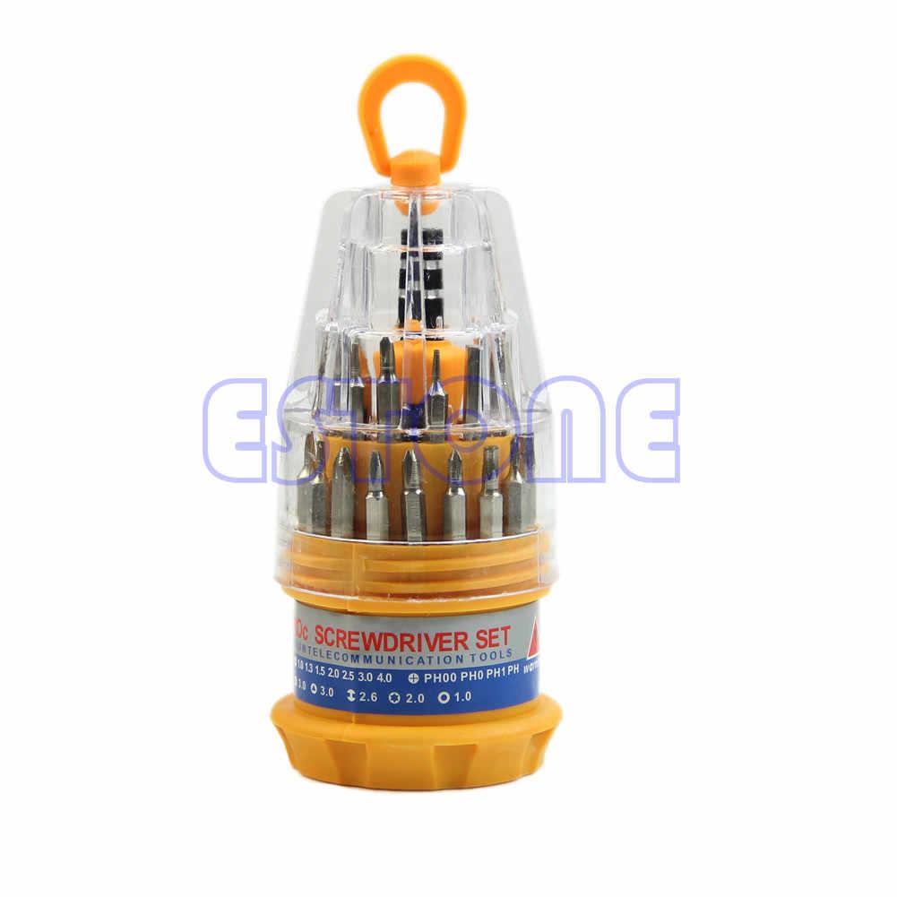 Delicate 31 In 1 Precisie Set Handvat Schroevendraaier Mobiele Telefoon Reparatie Kit Tool Drop Schip Ondersteuning