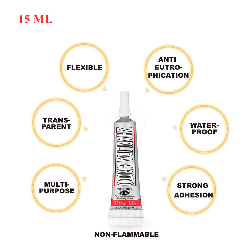 15ml Industrial Liquid E6000 Super Adhesive For Paint Diamond Metal Fiber Imitation Diamond Glass