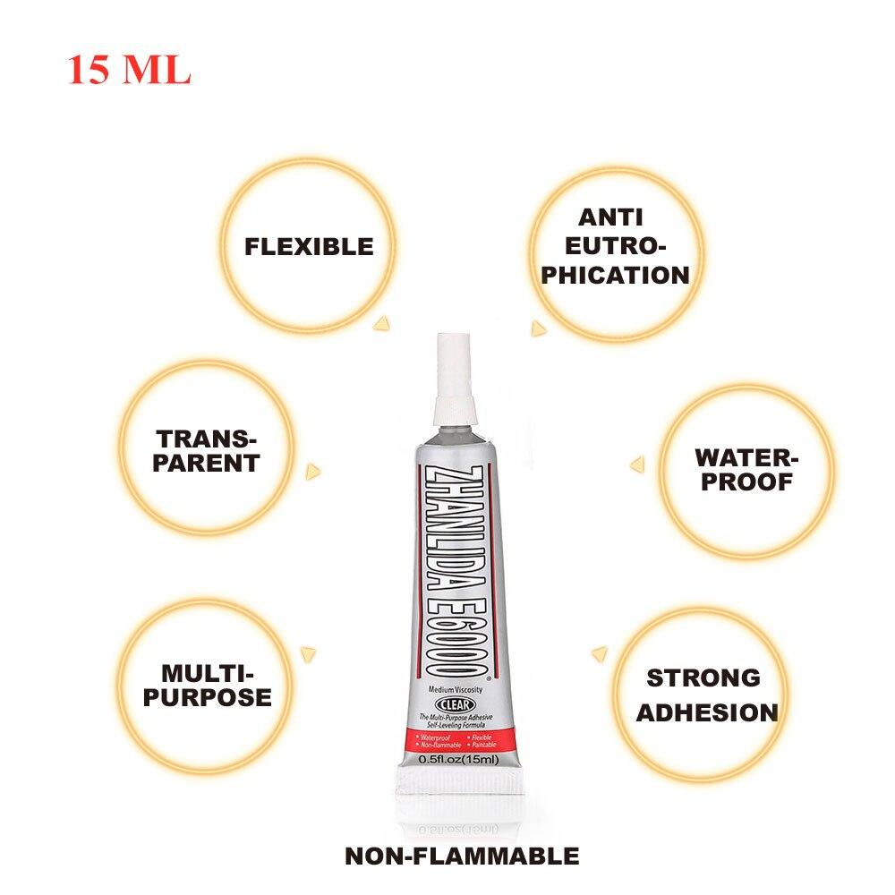 15ml Industrial Liquid E6000 Super Adhesive For Paint Diamond Metal Fiber Imitation Diamond Glass