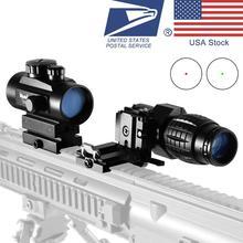 3x 4x 5x Lente di Ingrandimento 1x40 Red Dot 552 Scope Sight Riflescope di Caccia Tattico Olografico Verde di Vista del Puntino Combinazione attrezzature