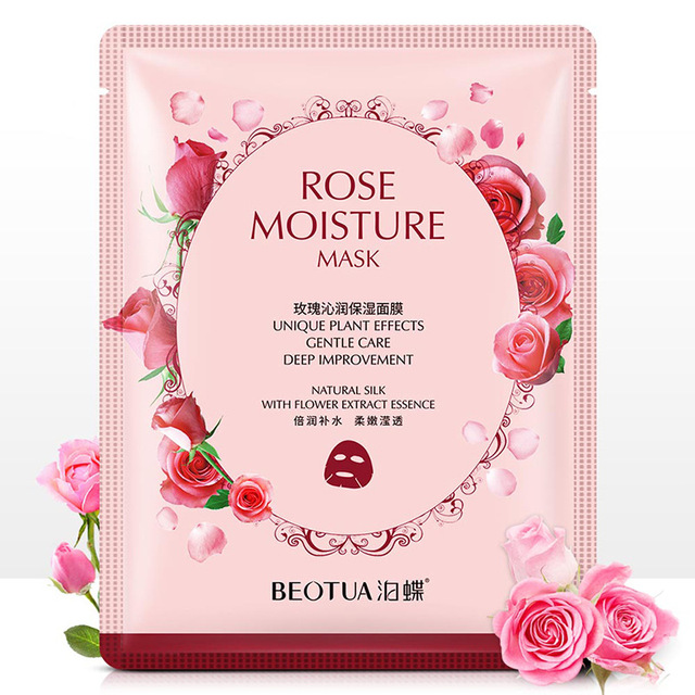 Rose fabric face masks facial acne Moisturizing Chamomile tissue mask for the face Whitening Cherry Oil-control korean skin care 4