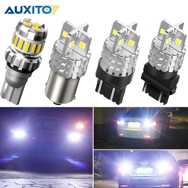 2Pcs W16W <font><b>LED</b></font> Canbus T15 1156 3157 No Error Car Reverse Backup Light For <font><b>Renault</b></font> Duster Megane <font><b>2</b></font> 3 Logan Clio 4 Captur <font><b>Scenic</b></font> image
