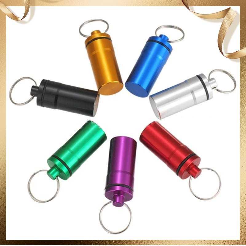 Portable voyage pilule médecine boîte boîtier étanche conteneur porte-clés outils Capsule bouteille porte-clés chaîne premiers soins médecine boîte