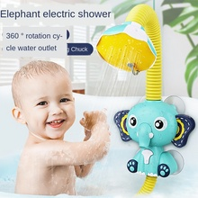 3WBOX Elephant Clouds Electric Shower Sprinkler Bathing Toys Automatically Circulating Water Spraying toddler Toys for bath