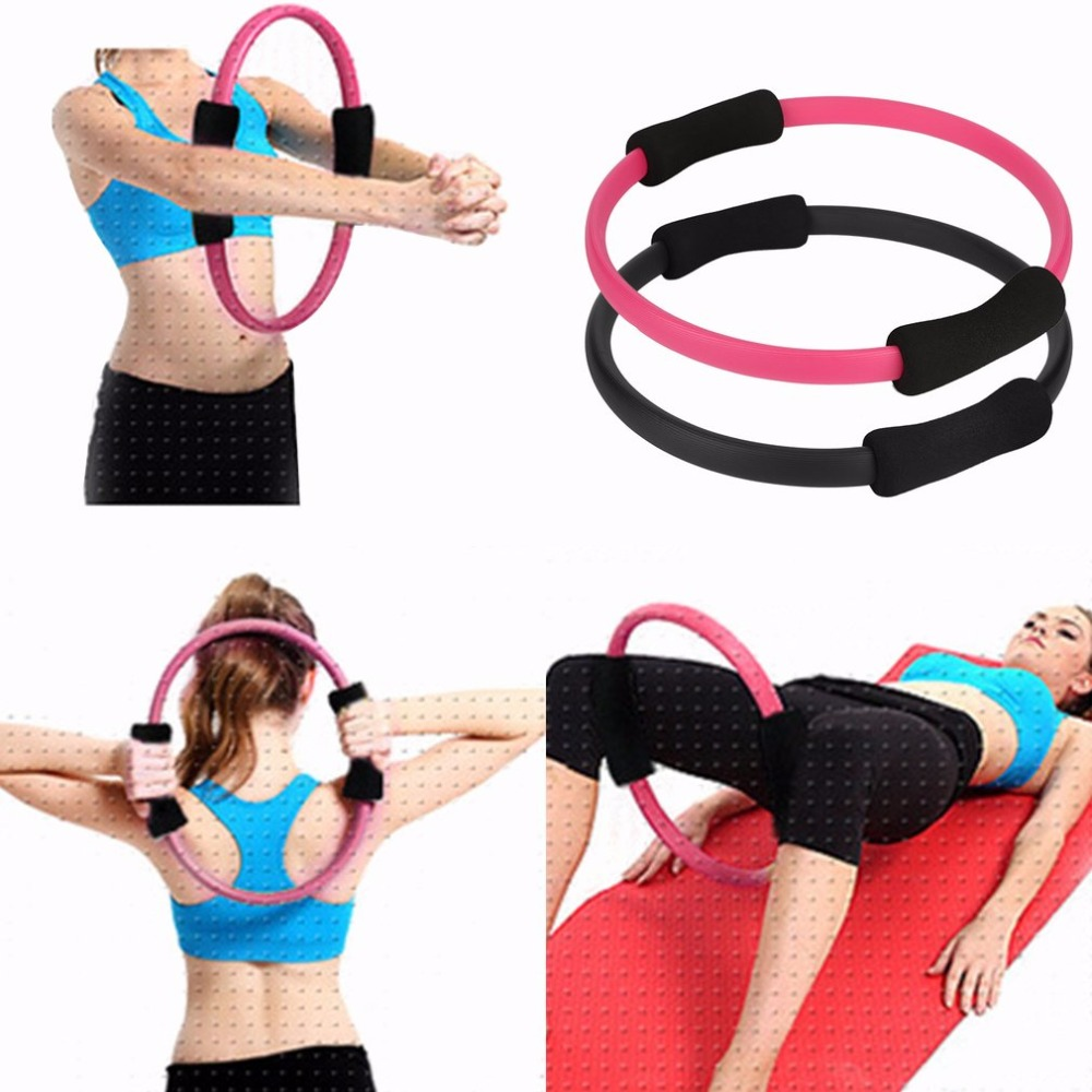 2018 New 1pc Massage Loop Pilates Ring Magic Circle Dual Grip Sporting Goods Pilates Yoga Ring Body Lose Weight Exercise Fitness