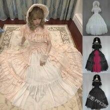 Victorian Dress Lolita Op Lace Cosplay Sweet Gothic Kawaii-Girl Retro O-Neck Bowknot