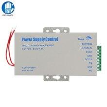 מתכת 12VDC/5A גישה בקרת אספקת חשמל Swtich 110 260VAC קלט עם זמן עיכוב למנעולים אלקטרוניים וידאו אינטרקום מערכת