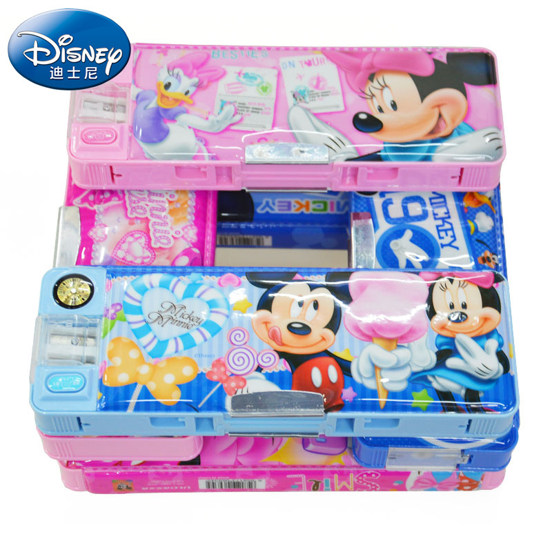 Students Multi-functional Stationery Box Plastic Transformation Pencil Case Children Button With Bookshelf Stationery Box Gift