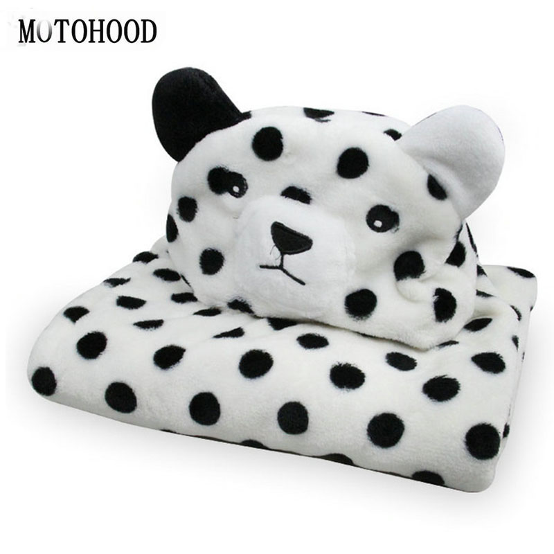 MOTOHOOD Winter Blankets Cartoon Panda Animal Cotton Baby Blankets Newborn Bedding Photography Props Fleece Warm Blanket Swaddle