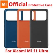 מקורי Xiaomi MI 11 אולטרה מקרה קשה מקרה עור חיקוי מגן מעטפת קשיח כיסוי עדין מגע עבור Xiaomi Mi 11 ultra