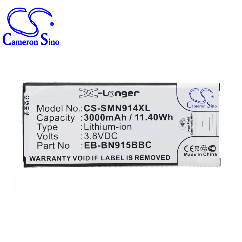 CameronSino for SAMSUNG Galaxy Note Edge SM-N915 SM-N9150 SM-N915A SM-N915D SM-N915F SM-N915FY SM-N915J SM-N915K battery
