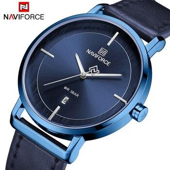 NAVIFORCE 3009 Relogio Masculino Watches Men Fashion Sport Leather Band Waterproof Watch Quartz Business Wristwatch