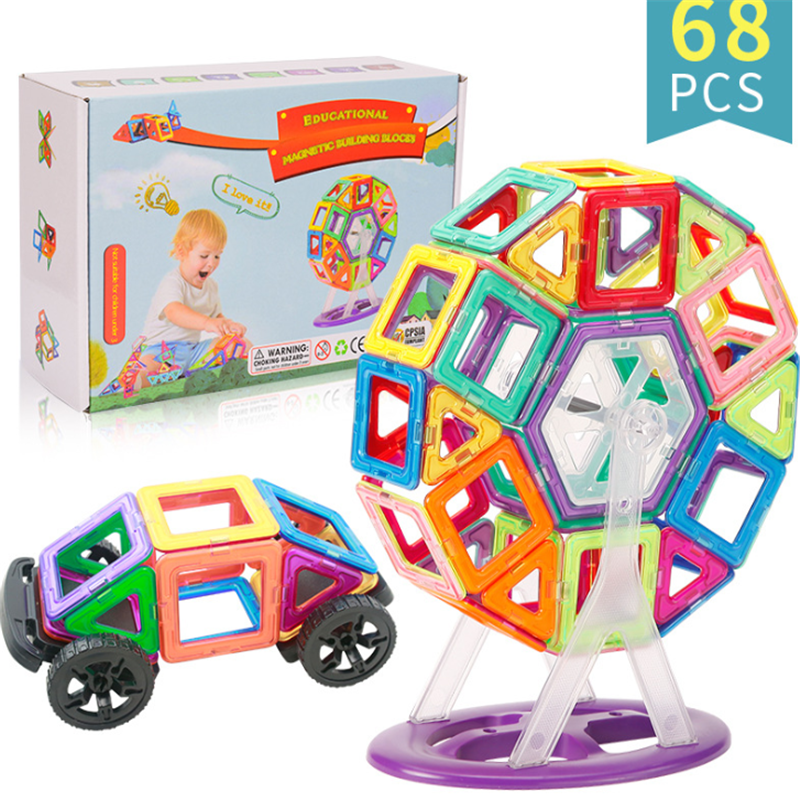 Bloques magnéticos de construcción de juguetes para niños Mini juegos