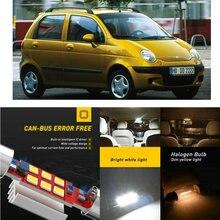 LED Interior Car Lights For DAEWOO matiz m100 m150 hatchback musso fj nexia hatchback saloon Dome map lamp bulb error free