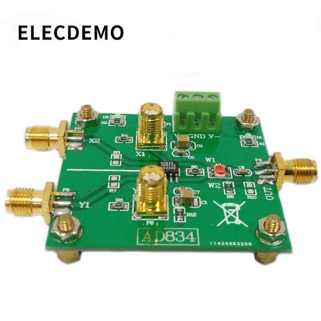 AD834 Quattro Quadranti Moltiplicatore Modulo di Condizionamento Del Segnale di Controllo di Potenza Doppia Frequenza Moltiplicatore 500MHz