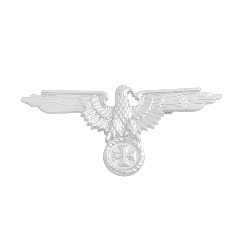 Немецкая военно-морская армия, военно-воздушные силы, булавка, танк, Воздушный самолет, линкор, эмалированные броши для одежды, сумки, орла, нагрудные значки, Винтажные Ювелирные изделия, подарок - Окраска металла: silver Eagle