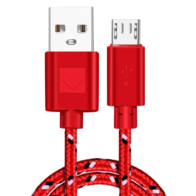 Vumpach Nylon Braided Micro USB Cable 1m/2m/3m Data Sync USB Charger Cable For Samsung HTC LG huawei xiaomi Android Phone Cables