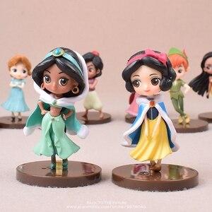 Image 2 - ديزني علاء الدين الياسمين Moana الأميرة 9 قطعة/المجموعة 7.5 سنتيمتر الشكل العمل أنيمي جمع تمثال لعب صغيرة نموذج للأطفال هدية