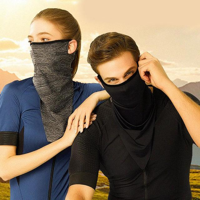 Summer Breathable UV Sun Protection Triangle Scarf Outdoor Cycling Face Mask